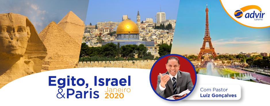 Egito, Israel e Paris – Janeiro 2020